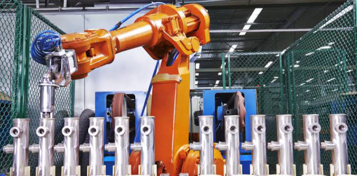 Industrial Robotic Arm for holding equipment in the manufacturing industry.
